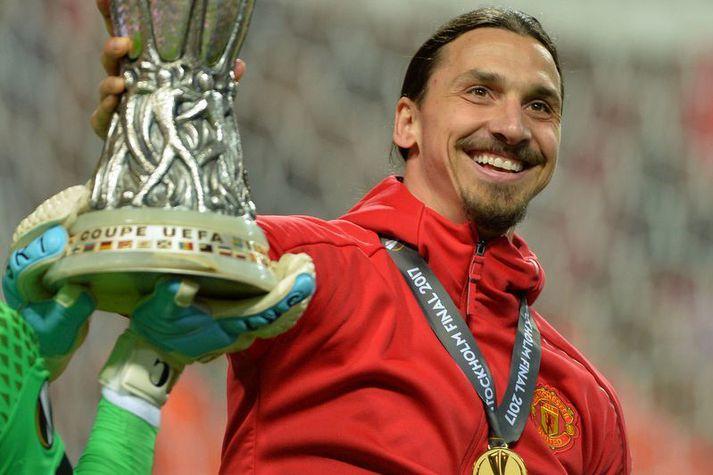 Zlatan Ibrahimovic vann Evrópudeildina með Manchester United en missti þó af úrslitaleiknum vegna meiðsla.