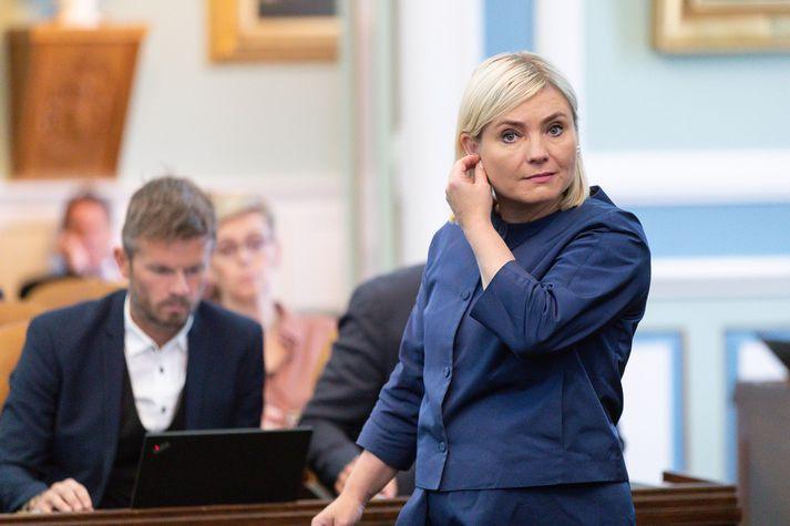 Lilja Alfreðsdóttir menntamálaráðherra.