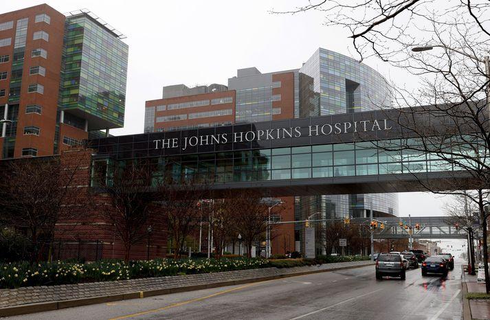 Johns Hopkins háskólasjúkrahúsið í Bandaríkjunum.
