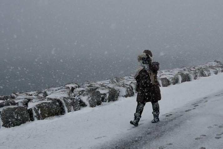 Það gæti snjóað á höfuðborgarsvæðinu í nótt.