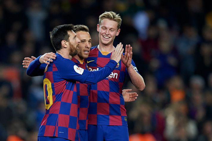 Lionel Messi og félagar eiga leik við Getafe í dag.
