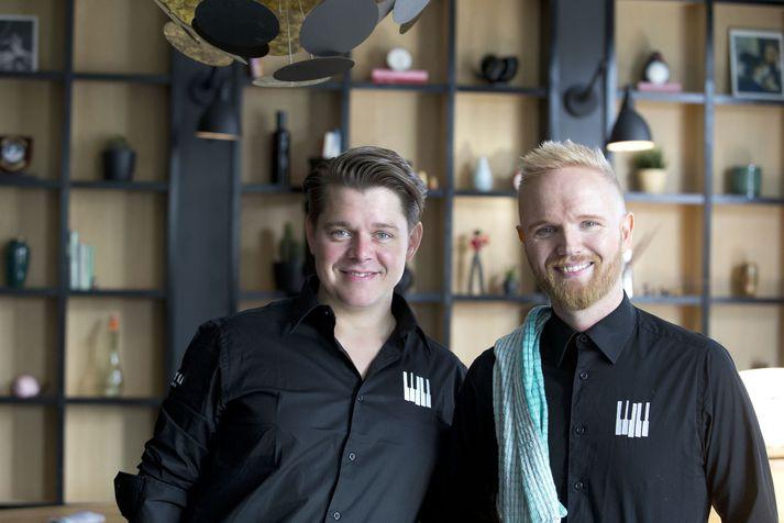 Friðrik Ómar Hjörleifsson og Jógvan Hansen sjá fyrir sér að Græna herbergið verði opnað á nýjan leik.