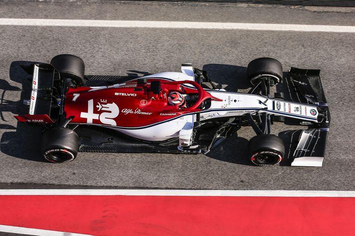 Hinn reynslumikli Kimi Raikkonen keppir fyrir Alfa Romeo.