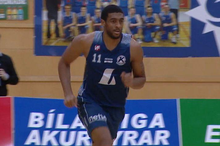 Amin Khalil Stevens var frábær með liði Keflavíkur.