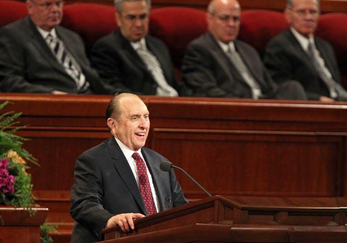 Thomas Monson varð forseti mormónakirkjunnar árið 2008.