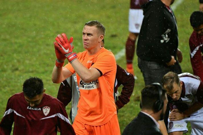 Ögmundur er leikmaður Olympiacos í Grikklandi.