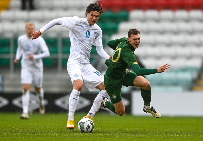 Willum í leik með U21 árs landsliði Íslands.