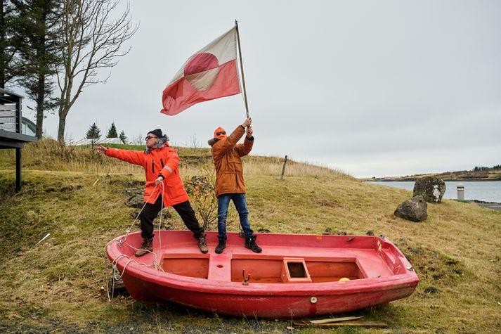 Erpur og Dj Moonshine hljóðmaður með meiru.
