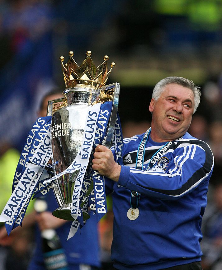 Ancelotti gerði Chelsea að Englands-og bikarmeisturum árið 2010. Hann var svo rekinn frá félaginu ári seinna.
