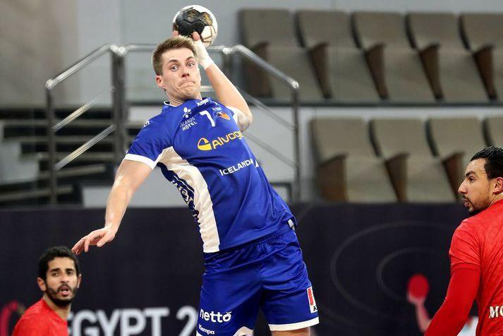 Viggó Kristjánsson fór á kostum í seinni hálfleik áður en hann meiddist á ökkla.