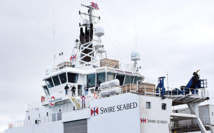 Hluti áhafnar Seabed Worker.