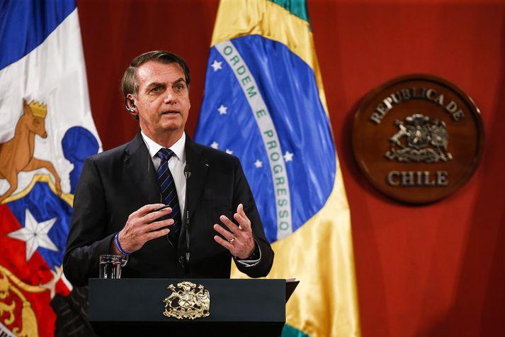 Bolsonaro hefur ekki farið leynt með aðdáun sína á herforingjastjórninni sem stýrði Brasilíu með harðri hendi í rúma tvo áratugi.