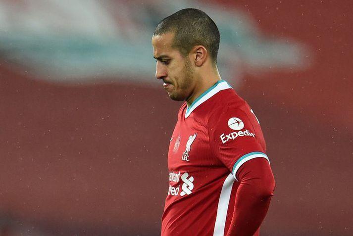 Thiago Alcantara hefur ekki náð að hjálpa Liverpool liðinu mikið á sínu fyrsta tímabili.