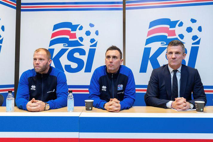 Eiður Smári Guðjohnsen hefur verið í starfi hjá KSÍ síðan hann tók við sem aðstoðarlandsliðsþjálfari U21-landsliðsins árið 2019.