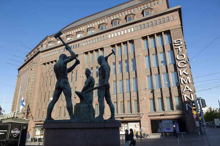 Stockmannbyggingin við Alexandersgötu í miðborg Helsinki.