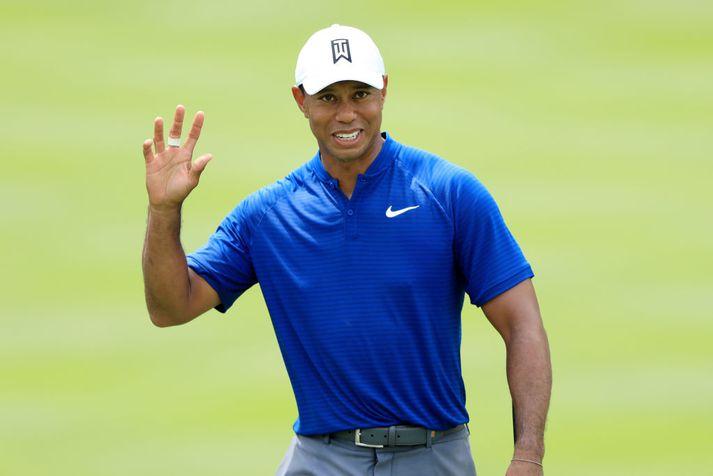 Tiger Woods spilaði gott golf í gær