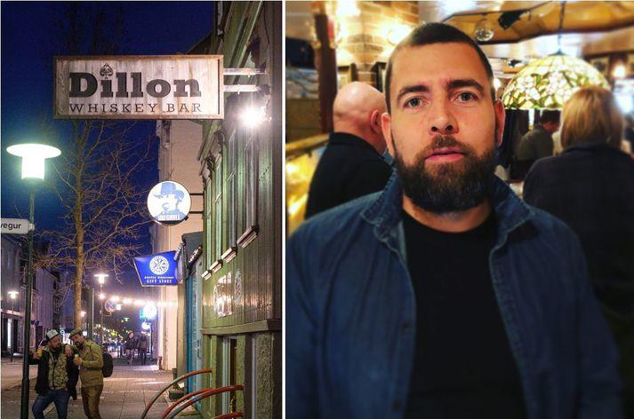Jón Bjarni rekur barinn Dillon í miðborg Reykjavíkur.