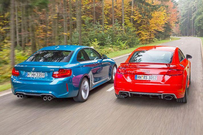 Audi TT RS og BMW M2 tilbúnir til átaka.