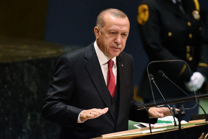 Recep Tayyip Erdogan er forseti Tyrklands.