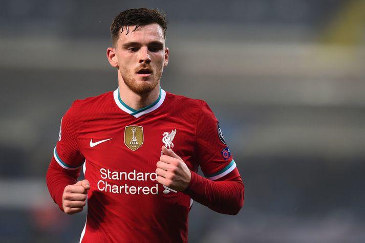 Andy Robertson er í stórhlutverki hjá Liverpool en hann er líka fyrirliði skoska landsliðsins sem gæti komist á EM í kvöld.