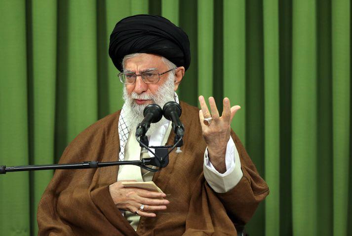Ali Khamenei, leiðtogi Írans.