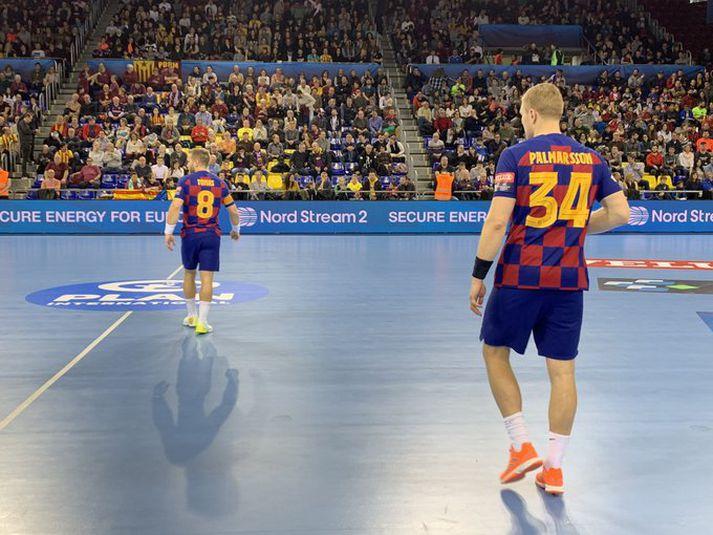 Aron átti frábæran leik fyrir Barcelona í kvöld.