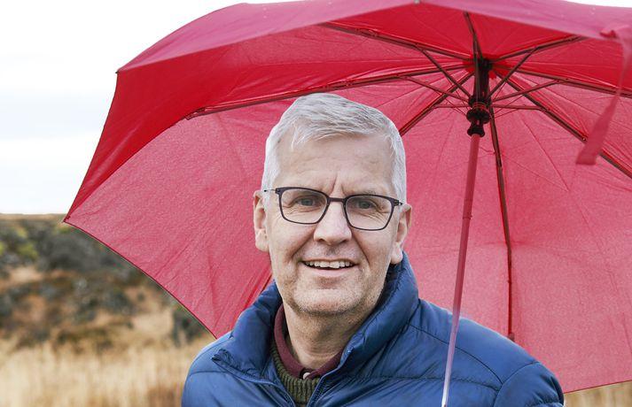 Einar Sveinbjörnsson veðurfræðingur. Myndin er samsett.