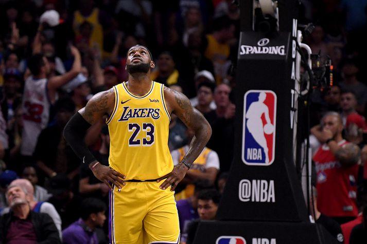 LeBron James ætlaði sér stóra hluti með Los Angeles Lakers liðinu í úrslitakeppni og það hefur væntanlega ekkert breyst.