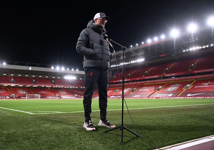 Jürgen Klopp fór mikinn í viðtölum eftir leik Liverpool og Leicester City.