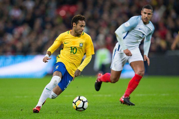 Neymar á ferðinni í kvöld.