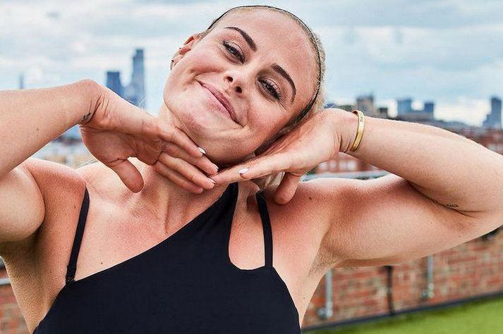 Sara Sigmundsdóttir fór til London til að kynna nýju íþróttavörulínu sína og WIT Fitness.