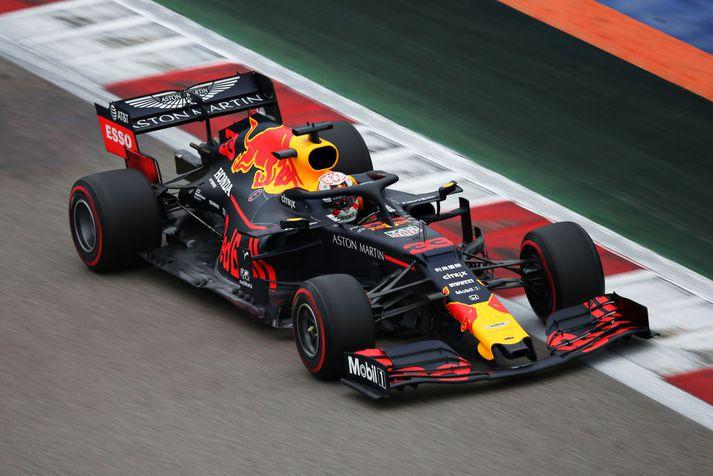Honda byrjaði samstarf sitt með Red Bull í vor.