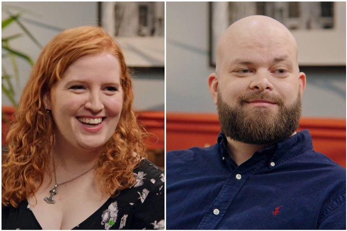 Erla Ruth Möller og Óli Jón Gunnarsson voru eitt þeirra tveggja para sem leidd voru saman á blint stefnumót í þættinum Fyrsta blikið á Stöð 2.