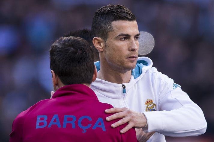 Ronaldo og Messi á sínum tíma.