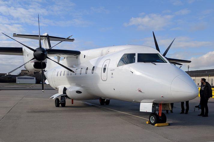 Dornier 328-vélin var keypt í Þýskalandi. Stefnt er að því að hún verði farin að þjóna innanlandsfluginu í apríl.