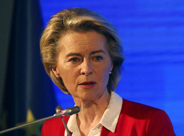 Ursula von der Leyen er forseti framkvæmdastjórnar Evrópusambandsins.