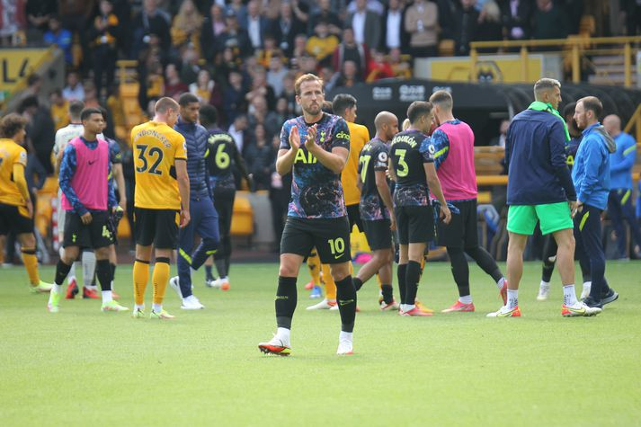 Harry Kane eftir leikinn gegn Wolves á dögunum.