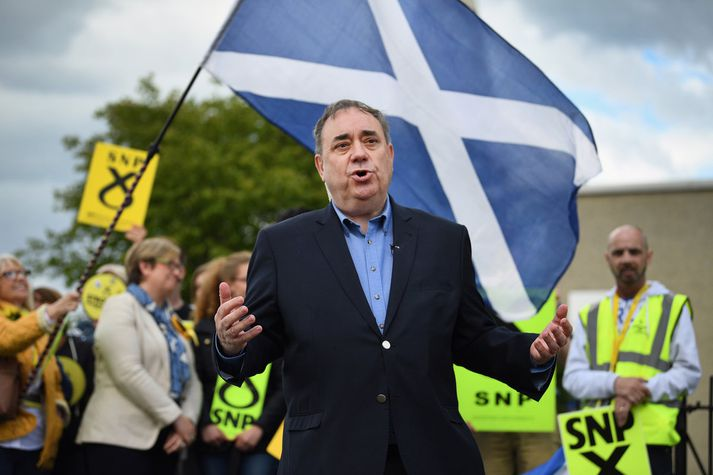 Alex Salmond í kosningabaráttunni í fyrra