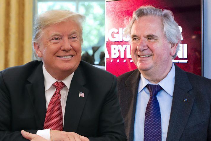 Trump á sér góðan bandamann í Davíð Oddssyni sem bregður fyrir sig gamalkunnu stílvopni, hinu napra háði, og telur fjölmiðla marga vart boðlega.