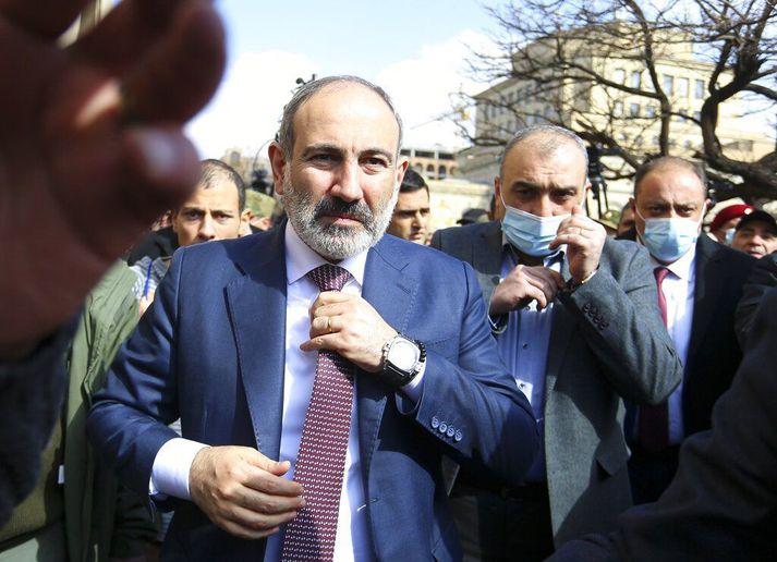 Nikol Pashinyan tók við embætti forsætisráðherra Armeníu í maí 2018.