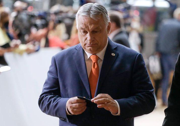 Viktor Orban, forsætisráðherra Ungverjalands, átti í vök að verjast á leiðtogafundi Evrópusambandsins í Brussel í dag.