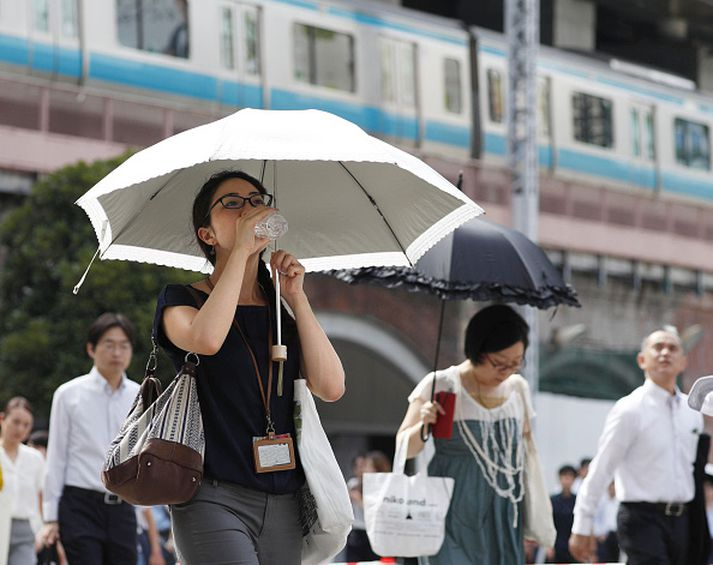 Í gær mældist 41,1 gráðu hiti í borginni Kumagaya sem er mesti hiti sem mælst hefur í Japan frá því mælingar hófust.