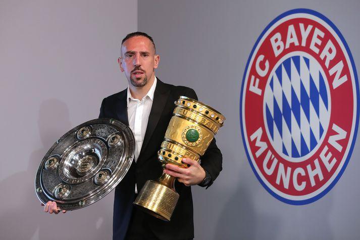 Ribéry vann tvöfalt á sínu síðasta tímabili hjá Bayern München.
