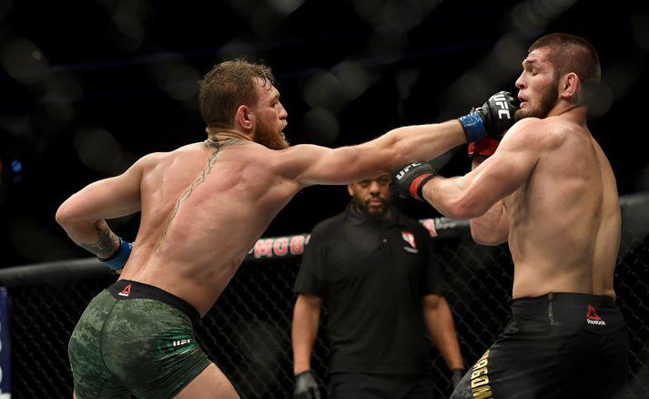 Conor McGregor tapaði fyrir Khabib Nurmagomedov í UFC 229 í byrjun október 2018.