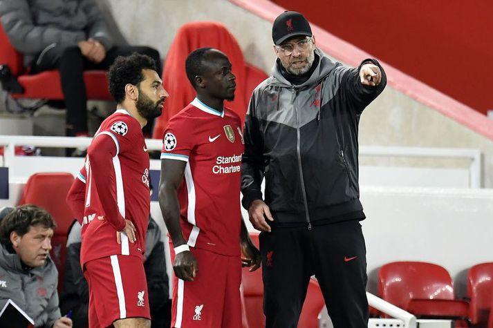 Jürgen Klopp þarf að finna leiðir til að kveikja aftur á þeim Sadio Mane og Mohamed Salah.