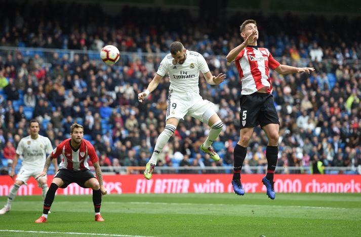 Benzema kemur Real Madrid í 1-0.