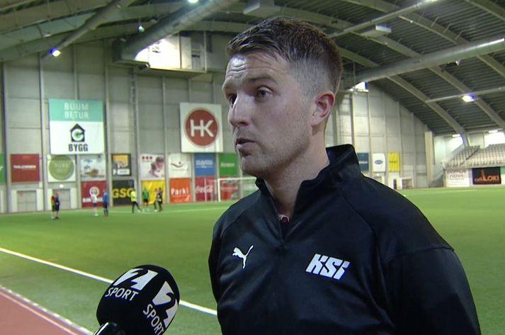 Vilhjálmur Alvar Þórarinsson ræddi við Gunnlaug Jónsson eftir leikinn í Kórnum.