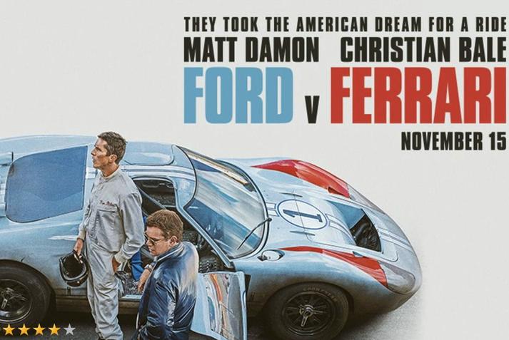 Christian Bale og Matt Damon fara með aðalhlutverkin í Ford v Ferrari.