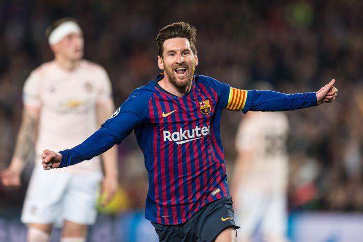 Messi var frábær gegn Manchester United í 8-liða úrslitunum