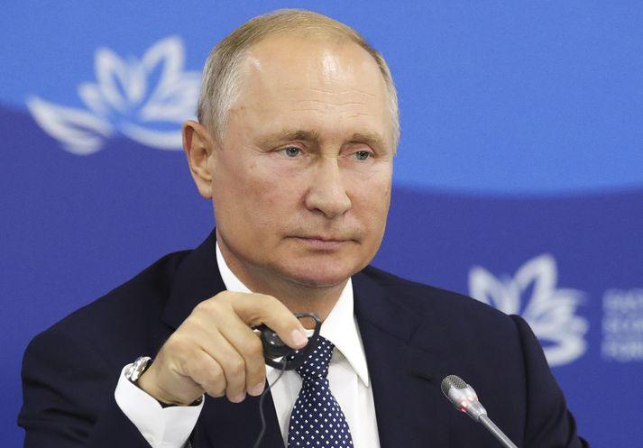 Vladimir Pútín, forseti Rússlands.